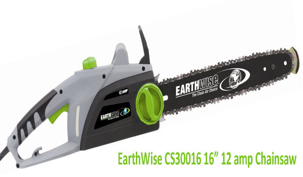 Earthwise CS30016 16 Inch 12 amp Electric Chain Saw